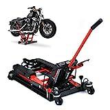 LianDu Elevador Hidráulico de Motocicletas con Capacidad para 680 kg Elevador de Cuatrimoto Bicicleta Elevadora (Negro)