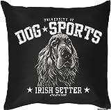 Irish Setter - Hunde Motiv Kissen mit Innenkissen Geschenk Hundefreunde 40x40cm Rassehund Dekokissen u Nutzkissen : )