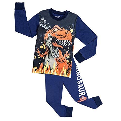 Dinosaurier Pyjamas Pjs (Boys Pyjamas, Dinosaurier Little Kids Pjs Sets Kleinkind Sleepwears für 2-7 Jahre (98(2-3 Jahre), Marineblau))