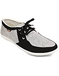 CF_Better Deals   Synthetic  Black-Grey Color  Casual Shoes  Sneakers  Canvas Shoes  Leather Shoes  Office Shoes...