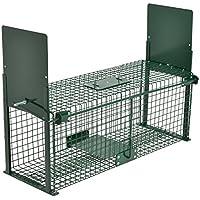 Moorland Safe 5067 - Trampa para animales vivos - 61 x 21 x 23cm - Para martas, gatos, zorros, conejos - Con 2 entradas