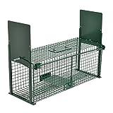 Piège de capture - Cage - L - Pour petits animaux : Lapins, rats, martres, fouines - 61x21x23cm Deux entrées + Poignée