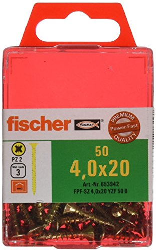 fischer-653942-power-fast-lot-de-50-vis-a-tete-fraisee-40-x-20-mm-vg-pz-galvanisee-jaune