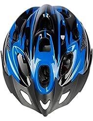 Casco da Ciclista Casco da Casco Casco da Equitazione Bicicletta da Montagna Accessori da Esterno per Biciclette Unisex,Blue