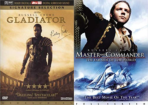 Crushing It Historically With Russell Crowe: Master And Commander The Far Side Of The World + Gladiator (Signature Selection) 2-Feature Film Award Winners Bundle