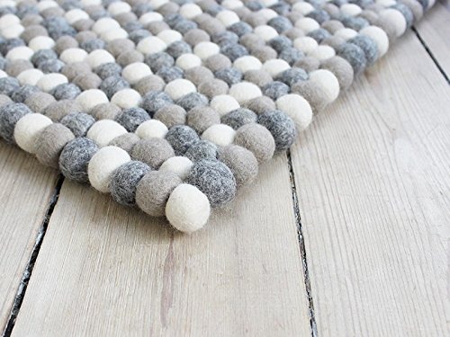 Filzkugelteppich Nepaldo - Super Qualität zu tollen Preisen (120 x 180 cm)