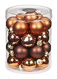 Inge-glas 15183D001-MO Kugel, 28-Stück, Copper und Brown-Mix, 30 mm, Kupfer/Amaretto / Cocoa