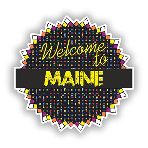 2x Welcome to Maine Vinyl Aufkleber Reise Gepäck # 7715 - 30cm/300mm Wide