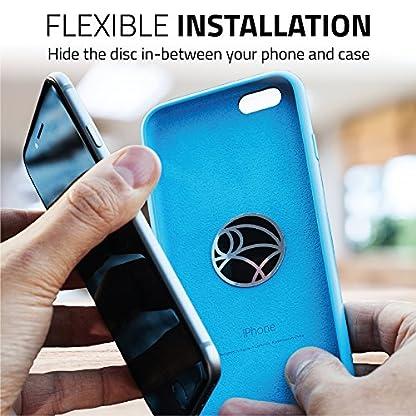 WUTEKU-Telefon-Halter-fr-das-Auto-100-universelles-und-magnetisches-Armaturenbrett-Montage-Kit-Fahrzeuge-Handys-und-Tablets-iPhone-X-8-7-Galaxy-S8-S7-2-Scheiben-Platte