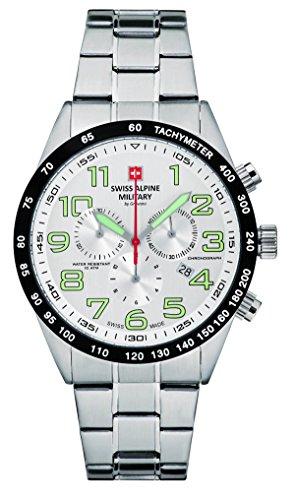 Swiss Alpine Military by Grovana Men's Watch Chrono 10ATM Silver 7047.9132sam