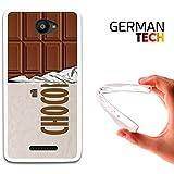 Funda Gel para Bq Aquaris U - U Lite, Carcasa TPU Flexible fabricada con la mejor Silicona, protege y se adapta a la perfección a tu Smartphone y con nuestro exclusivo diseño German Tech®. Tableta de chocolate.