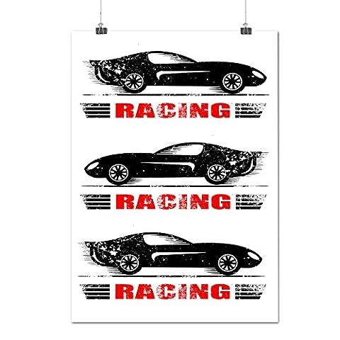 Haut sport Courses Auto Voiture Moteur La vitesse Matte/Glacé Affiche A3 (42cm x 30cm) | Wellcoda