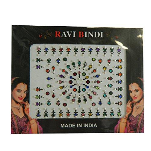 Bindis 90 Stück Stirnschmuck Kärtchen Karte selbstklebend Bollywood Schmuck Indien Hinduismus
