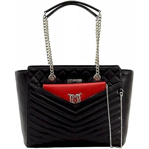 Love Moschino Borsa Quilted Cal Pu donna, accessori: borsa a mano, nero