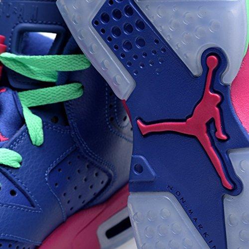 Nike Mädchen Air Jordan 6 Retro Gg Laufschuhe gm ryl/wht-vvd pnk-lt lcd grn