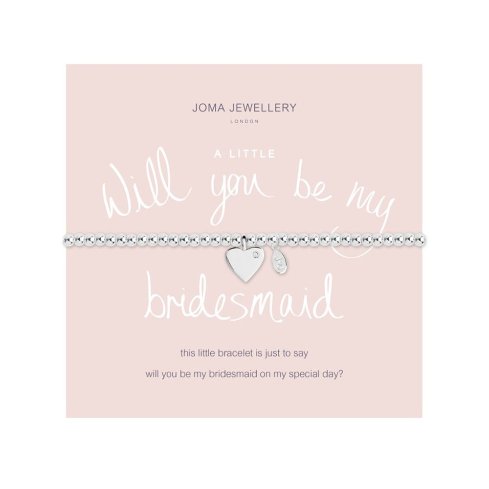 Joma Jewellery a little Will You Be My Bridesmaid bracelet J76uHInuS
