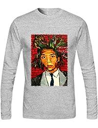 Jean Michel Basquiat 100% Cotton for 's Fashion Long–Camiseta de?xxxx de Large?