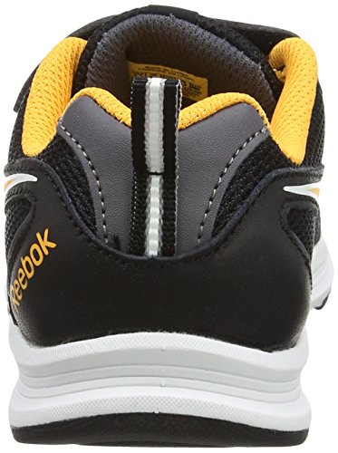 Reebok Bd4280, Sneakers trail-running fille Multicolore (Black/Ash Grey/Rouge Fire Spark/White)