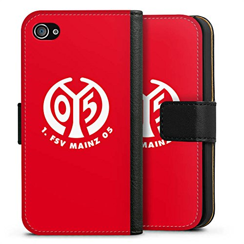 Apple iPhone 6s Silikon Hülle Case Schutzhülle 1. FSV Mainz 05 e.V. Fanartikel Fußball Sideflip Tasche schwarz