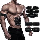 Hiilife Fitness-Gerät EMS Bauchmuskeln Training Muskelstimulation AB Abnehmen Bauchtrainer Abdominale Massagegerät Fettverbrennung Erarbeiten für Männer und Frauen