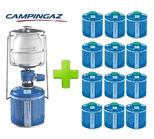 ALTIGASI Lanterne Lampe à gaz Campingaz LUMOGAZ Plus de 80 W + 12 pièces Cartouche CV 300 de 240 GR