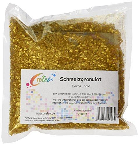 Creleo 760014 Schmelzgranulat, Schmelzolan 200 g, Gold
