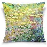 8cdf6019f7 ALAZA Monet painting federa per divano salotto auto decorativo in cotone e  lino copriletto federa per