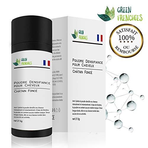 more photos bc4e4 b69a3 G.F. Poudre Cheveux Chatain Foncé, Premium 2019 Poudre Fibre Matifiante  pour Cheveux, Poudre Capillaire