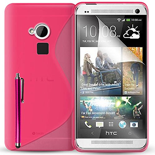 Schutzhülle weich Silikon Gel, Motiv S-Line für HTC One Max/Dual Sim - One Sim Dual Max Htc