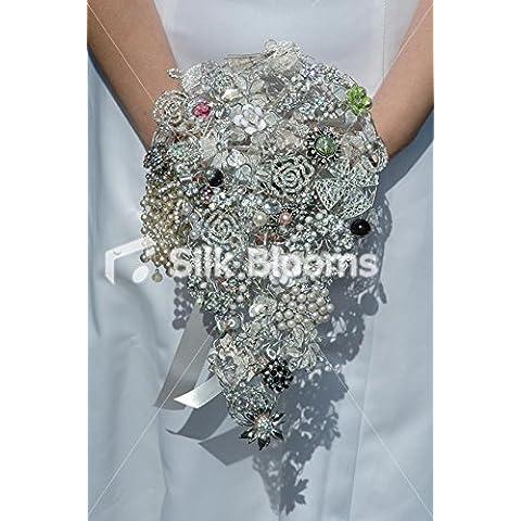 Amazing Mixed Bouquet Spilla goccia W/argento