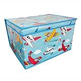 Children's Jumbo Planes Storage Chest / Toy Box by Pink Sumo