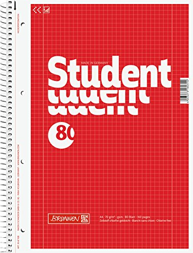 10-brunnen-collegeblocke-student-a4-lineatur-28-kariert-80-blatt-weiss