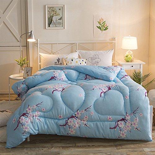 Polyester Betten/Bettwaren Wärme Voll/Queen/Voll/Twin Size Daunendecke Bettdecke einfügen, hypoallergen, genäht, bedruckt Quilt, Pflaume, 180 × 220 cm (2,5 kg)