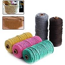 TOPWA - Juego de 5 cuerdas de macramé para macramé o macramé, de algodón,