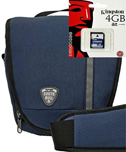 Foto Kamera Tasche SOUTHBULL COLT Cord blau Set mit 4 GB SD Karte