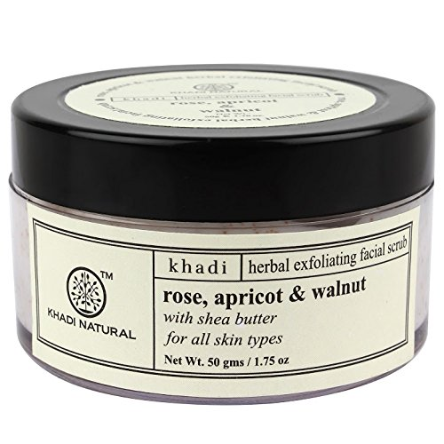 Khadi Apricot and Walnut Cream Scrub with Rose, 50g