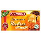 Pompadour Infusione per Bevande Calde, Rosso Rooibos RFA - 20 Filtri