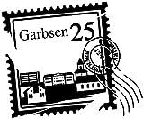 Wandtattoo Skyline Garbsen Stadt Stamps Briefmarke Marke Wand Aufkleber Türaufkleber Möbelaufkleber Autoaufkleber Wohnzimmer 5M191, Farbe:Königsblau Matt, Breite vom Motiv:40cm