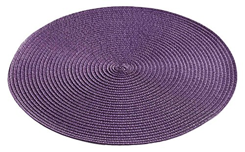 Décor Line ZEBULON Set de table Plastique Prune 35 x 35 cm