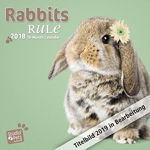 Rabbits Rule - Kaninchen 2019 - 18-Monatskalender: Original Myrna-Kalender par Myrna Huijing