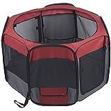 Favorita Parque juego entrenamiento portátil para mascotas, 1.22 m x 69 cm, de tela 600D Oxford impermeable y malla para ventilación, incluye bolsa de transporte