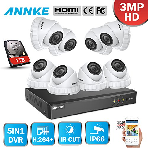 ANNKE-8CH-30MP-DVR-con-8pcs-Cmaras-en-Domo-Kit-Sistema-de-Vigilancia-Seguridad-ExteriorInterior-24-IR-Leds-Deteccin-de-Movimiento-1TB-disco-duro-de-vigilancia