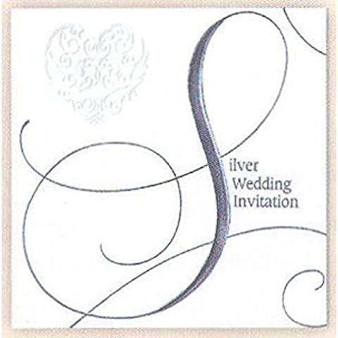 Wedding Invitation Pack & Inspirational Magnet (Silver)
