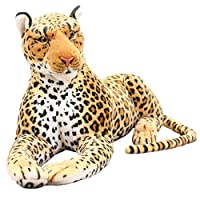 lzpoyaya Simulation Leopard Panther Plush Toy, Stuffed Animal Classic Toys, For Children Gift 30Cm