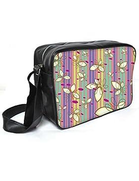 Snoogg creme Blütenblätter Leder Unisex Messenger Bag für College Schule täglichen Gebrauch Tasche Material PU