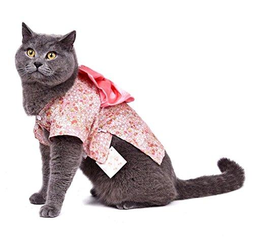 Kostüm Kimono Muster - smalllee _ Lucky _ store Kleiner Hund Kleidung für Mädchen Jungen Katze Hund Kostüm Kimono Floral Hundemantel Muster Spring