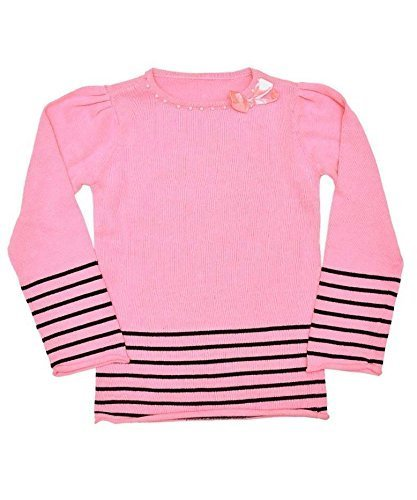 girls-new-woolworths-pink-knitted-stripe-tunic-jumper-top-dress-3-4-years