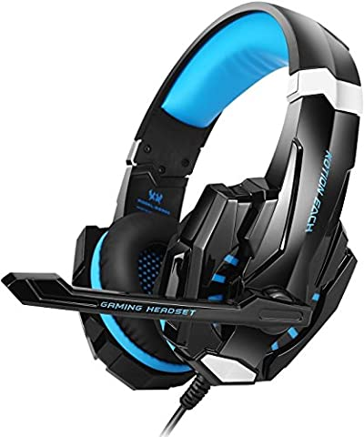 Gaming Headset PS4, VersionTech 3,5mm Stereo Wired Over-Ear-Kopfhörer mit Mikrofon