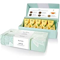 Tea Forte Lotus Assortimento Té y Infusiones Bio 10 pyramides, Lotus Petite Presentation Box 10 pyramids Black Tea, Green Tea, Oolong Tea, White Tea, Herbal Tea by Tea Forté