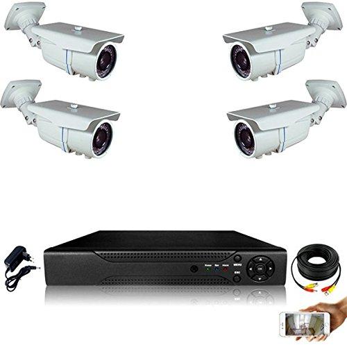 Kit-videovigilancia-4-Cmaras-tubos-Full-AHD-Sony-960p-13-mp--incluye-4000-GB-4-cables-de-20-m-pantalla-22